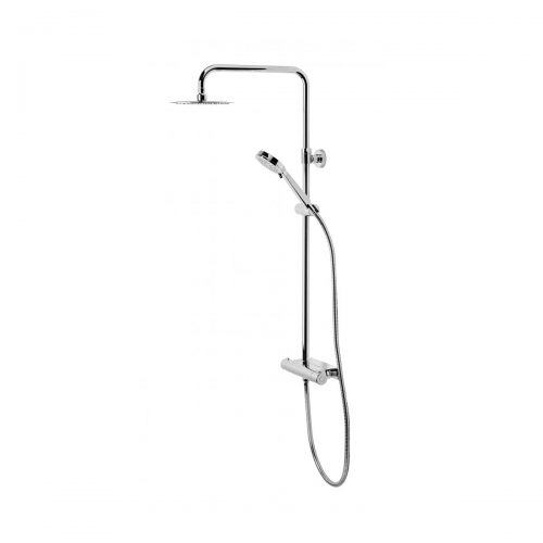 Tavistock Quantum Thermostatic Diverter Bar Valve and Shelf with 200mm Round Head & Handset