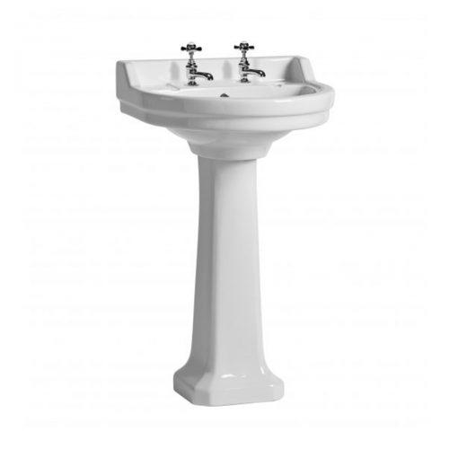 Tavistock Vitoria 550mm Round Basin & Pedestal