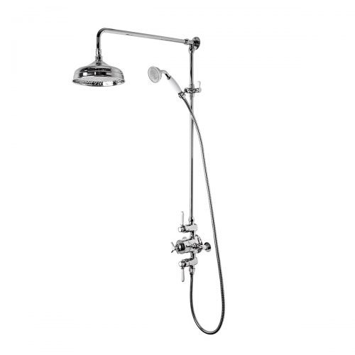 Tavistock Cheltenham Exposed Dual Function Shower Valve with Shower Head and Handset